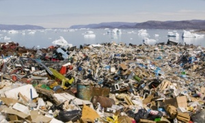 Rubbish dumped on the tundra, Greenland
